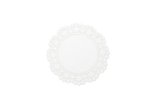 Fox Run 4371 Paper Lace Doilies, 6-Inch, Pack of 24 - Edge Punch Doily Lace