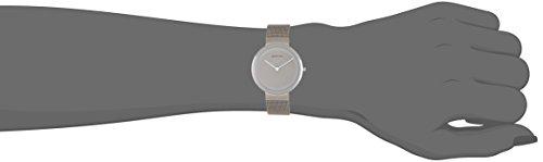 Bering Time  – Reloj Analógico de Cuarzo para Mujer, correa de Acero inoxidable color Plateado