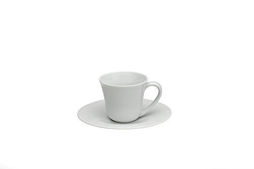 Alessi Ku Mocha Cup And Saucer - Set Of Two