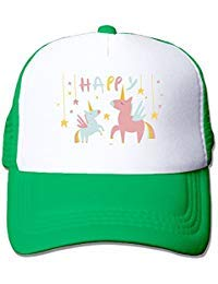 Li2u-id Happy Unicorn Kids Cap Adjustable Baseball Cap Mesh Cap -