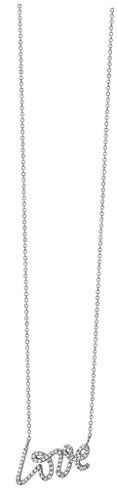 Love - Collier Femme - diamant 0,18 ct or blanc 9 carats