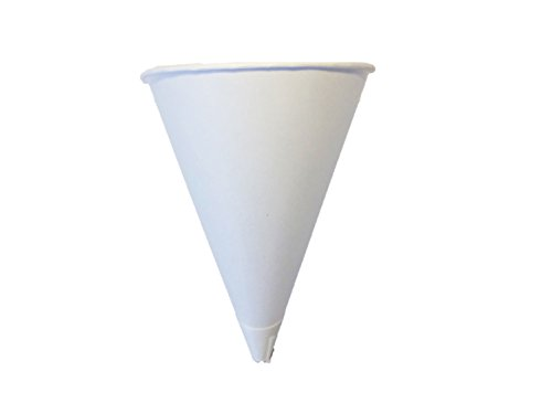 Price comparison product image Solo Bare 4 oz. Recyclable Paper Cone Water Cup,  Rolled Rim 400ct. 4R-2050 {Vasos de Agua con Forma de Cono} (2 Boxes (400ct))