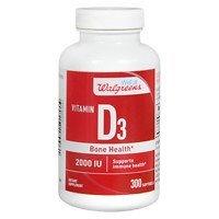 Walgreens Vitamin D3 Bone Health 2000 IU, Softgels, 300 ea