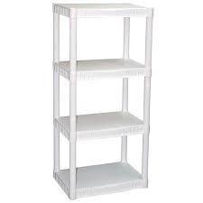 Plano 4-Tier Heavy-Duty White Plastic Shelves (1)