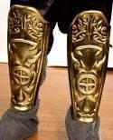 Adult Roman Gladiator Shield Armor Leg Guards Costume Accessory