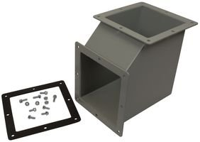 F-66WE90-Enclosure Accessory, Wireway Elbow, Feed-Through NEMA Type 12 Wireway Cable and Wire Management
