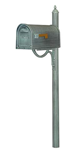 Special Lite SCC-1008-SPK-679-VG Classic Curbside with Richland Mailbox Post44; Verde Green