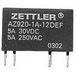 American Zettler AZ920-1A-6DEF 6VDC 300 Ohm 5A SPST-NO Ultra Sensitive Subminiature Power Relay