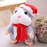 KMUG Cheeky Hamster Talking Mouse pet Christmas Toy Speak Sound Record Hamster Xmas Gift for Kids Children (Cheeky Gifts Christmas)