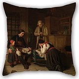 Elegancebeauty Pillowcover 18 X 18 Inches / 45 By 45 Cm(double Sides) Nice Choice For Bedroom,drawing Room,him,teens Girls,sofa,him Oil Painting Amalia Lindegren - Lillans Sista Bädd ('The Last ()