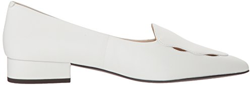 Leah Women's White Cole Leather Flat Skimmer Haan Ballet ax5w1HEw