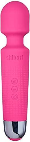 SHIBARI Mini Halo,The Original Compact Power Wand Massager, Wireless, 20x Multi-Speed Vibrations (Pink)