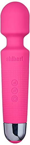 "Shibari Mini Halo,""The Original"" Compact Power Wand Massager, Wireless, 20x Multi-speed Vibrations (Pink) from SHIBARI"