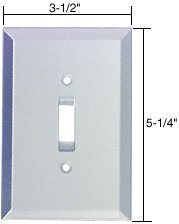 C.R. LAURENCE GMP3C CRL Clear Toggle Switch Glass Mirror Plate by C.R. Laurence by C.R. Laurence