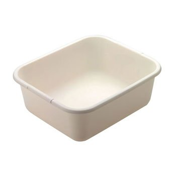 Microban Dish - Rubbermaid Microban Dishpan, 4.5gal, White - one pan.