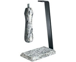 Granite Table Stand & Handle Set Color: White Wave