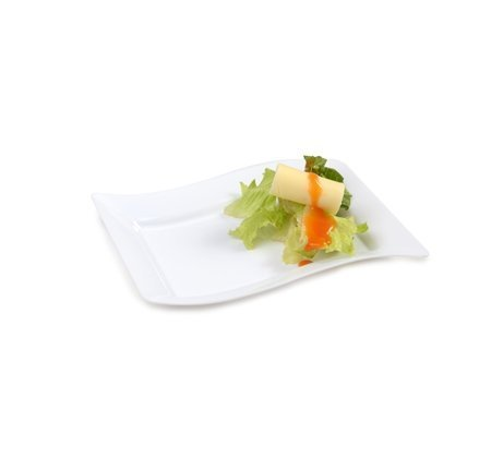 FL-1405-WH 5.5 X 7.5 Rectangle Dessert Plates 120/Case by Fineline settings