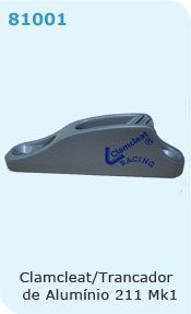 LASER- #9906-ALUMINUM CAM CLEAT FOR BOOM AND DECK-LASER SAILBOAT