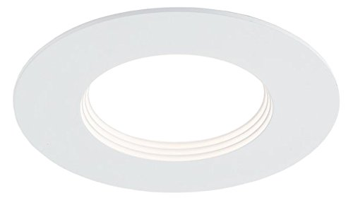 WAC Lighting HR3D-RO92722S-WT Duo LED Warm Dimming Recessed Downlight Trim, 3'', White by WAC Lighting