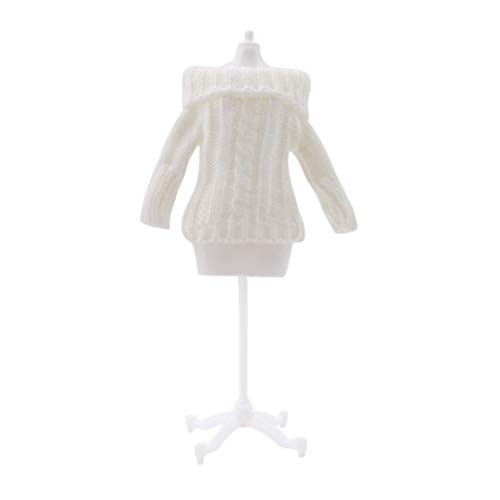 Clothes Diy Fashion Mini Shawl Handmade Skirt White Little Outfit Knitted Baby Doll Dress Up Joofff Dolls vfCRRq