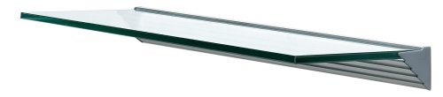 "Wallscapes GL6020CLKIT Glacier 8"" x 24""  3/8"", Clear Glass Shelf Kit"