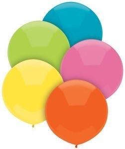 Single Source Party Supplies - 17'' Tropical Assortment Outdoor Latex Balloons - Case of 720