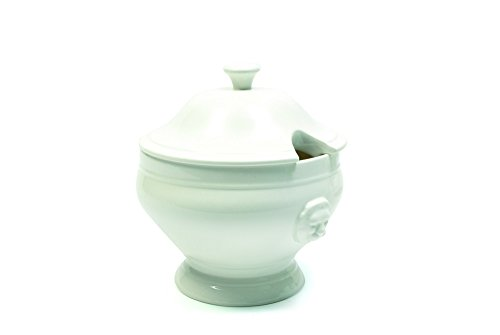 White Basics Collection, Lion Soup Tureen, White