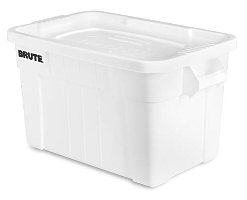 Rubbermaid Commercial Products Brute Tote Storage Container with Lid, 20-Gallon, White (FG9S3100WHT) (Pack of 6) by Rubbermaid Commercial Products (Image #3)