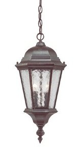 (Acclaim 5516MM Telfair Collection 2-Light Outdoor Light Fixture Hanging Lantern, Marbleized Mahogany)