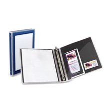12 Avery Flexi-View Round-Ring Presentation View 3-Ring Binders, 1/2 Capacity, Black, EA - AVE15767
