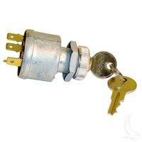EZGO Ignition Key Switch (81+) Gas/Electric Golf Cart (With Lights) 4-Prong