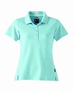 Adidas Golf A10 ClimaLite Ladies Stretch Interlock Polo - Enamel/White - Large