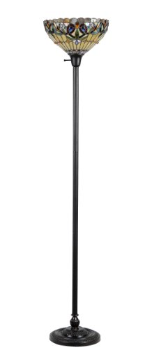 "Chloe Lighting CH33353VR14-TF1 ""Serenity"" Tiffany-Style Victorian 1 Light Torchiere Floor Lamp 14″ Shade"