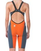 Arena 000930 Women's Powerskin Carbon Flex VX Jammer, Navy Grey-Orange - 28 by Arena
