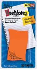 Redi-Tag - See-Notes Tangerine Waves, 30 flags, 12-pack (See Tag Redi Notes)