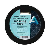 "Art Alternatives Acid-Free Black Masking Tape - 3/4""x60 Yards"
