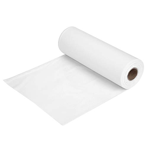 100FT/30M Tablecloths for Rectangle Tables,Tableware Table Cloth Coffee Table Cover Solid Color Plastic Banquet Roll Party Catering for Buffet Table, Parties, Holiday Dinner, Wedding (White)