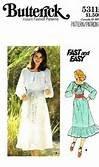 (VINTAGE UNCUT & OOP BUTTERICK 5311 MISSES' DRESSES SEWING PATTERN SIZE MEDIUM)