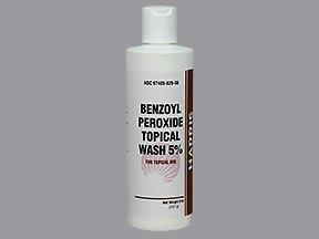 Harris Pharma 5 Benzoyl Perox Wash 8 OZ PACK OF 2