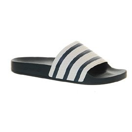 Adidas Pantoletten Adilette Marine Weiss