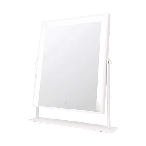 Danielle LED Full Beam Hollywood Mirror, 3 Light Levels – White – True Image (D1027W)