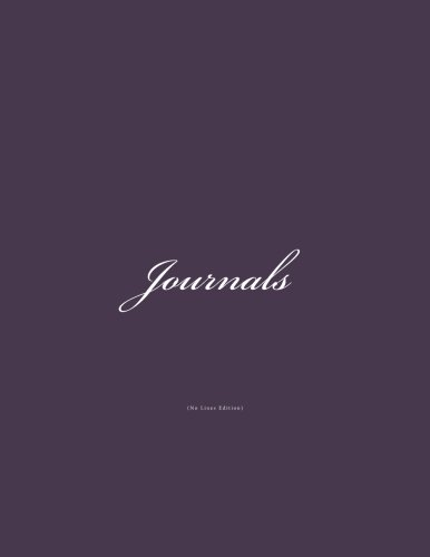 Download Journals No Lines: Classic (Blank Pages) Purple Cover Journal Option - ON SALE NOW - JUST $6.99 (Volume 6) ebook
