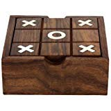 Wood Tic Tac Toe Game - ITOS365 Wooden Tic Tac Toe/ Noughts and Crosses and Solitaire Game Unique Handmade Quality Wood Family Board Games