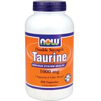 Taurine Double Strength, 1000 mg, 250 caps by Now Foods (Pack of 3)