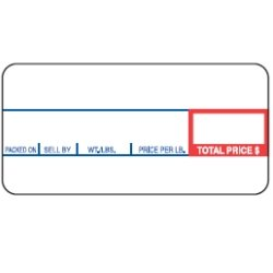 CAS LST-8000 Printing Scale Label, 58 x 30 mm, Non-UPC, 12 Rolls Per Case