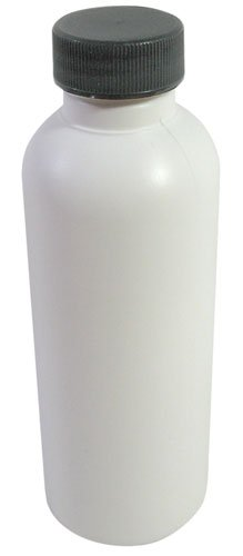 4 Oz White Plastic Bottles with Gasketed Screw Caps - Pack of (10)