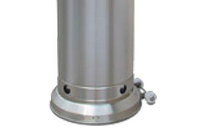Estufa gas butano exterior - de acero inoxidable, ideal para terraza - portátil, con ruedecitas - Garantía Butsir: Amazon.es: Hogar
