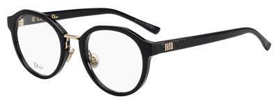 Christian Dior LadyDiorO4F 807 Eyeglasses Black Gold Frame