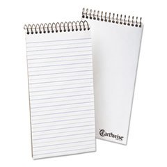 Ampad 25281 Earthwise by Ampad Recycled Reporter's Notebook, Pitman Rule, 4 x 8, WE, 70 SH