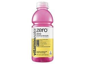 VitaminWater Zero Shine Water, Strawberry Lemonade, 20 Ounce (24 Bottles)